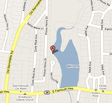 Map of 40 Mill Pond Way, E Falmouth, MA 02536